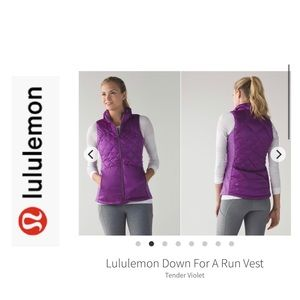 LuLuLemon Down For a Run Vest. Size 8. Violet